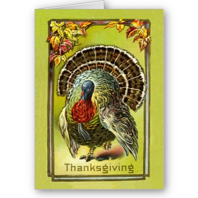 Vintage thanksgiving greeting