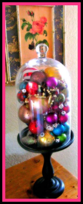 Ornaments bright with frame