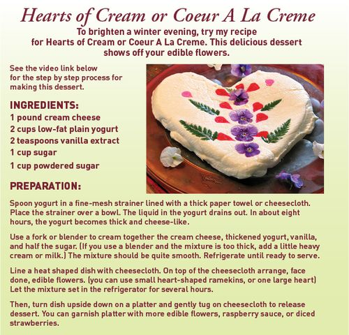 Hearts of cream